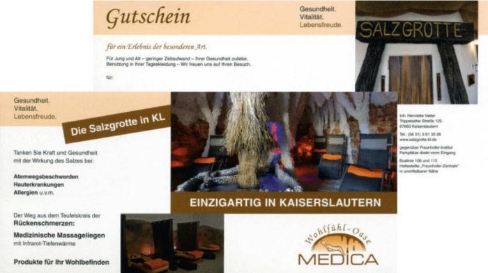 Geschenkgutscheine | Salzgrotte Kaiserslautern